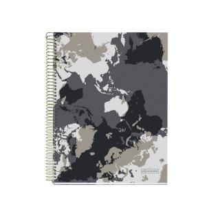 SVESKA A5 140 HOR WORLD MAP MR