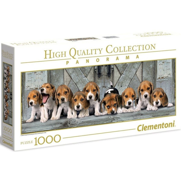 PUZZLE 1000 PANORAMA BEAGLES