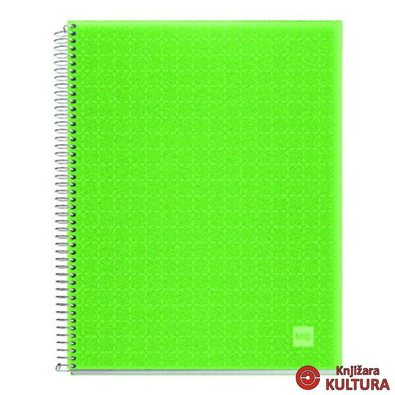 SVESKA A5 140L PP APPLE GREEN D.