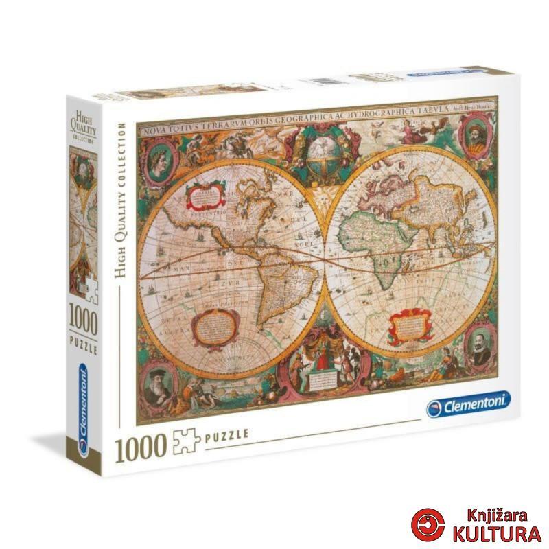 PUZZLE 1000 CL KARTA SVIJETA