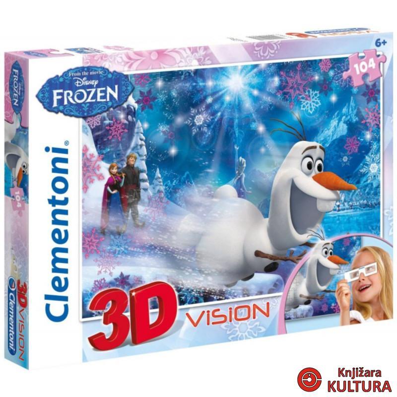PUZZLE 104 3D FROZEN INT.