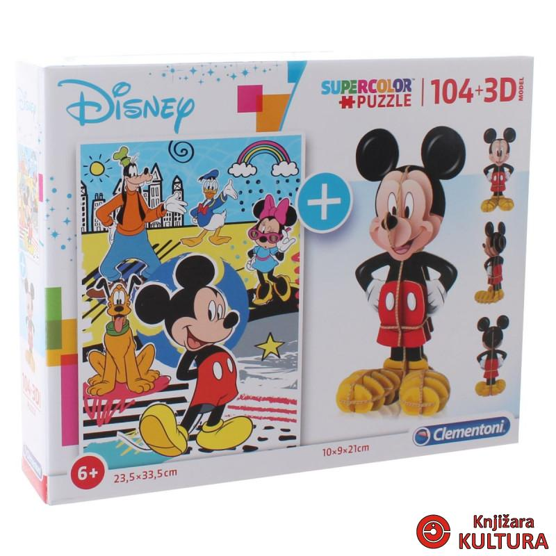 PUZZLE 104 +3D MODEL MICKEY 20157